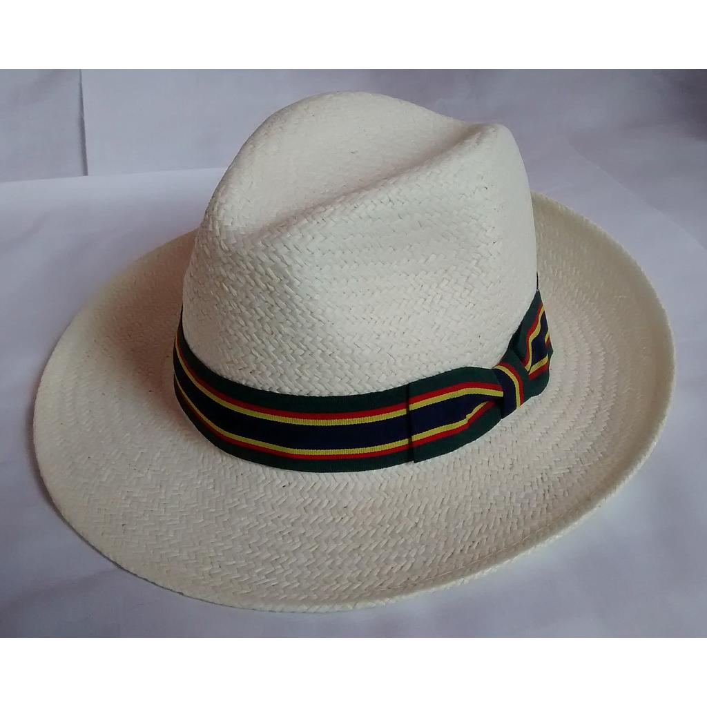 Straw Hat - Fedora with assorted bands